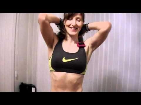 Пресс стоя для похудения живота! - YouTube