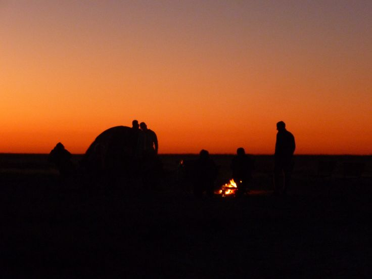Sunset on Makgadikgadi salt pans, Botswana