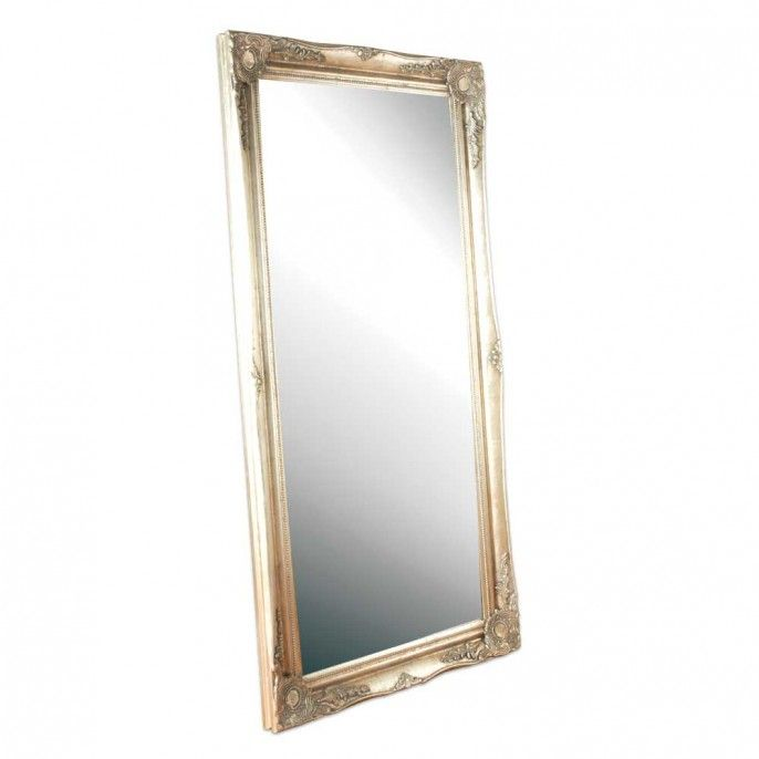 Pewter Ornate Floor Mirror 160cm X 80cm Bathroom