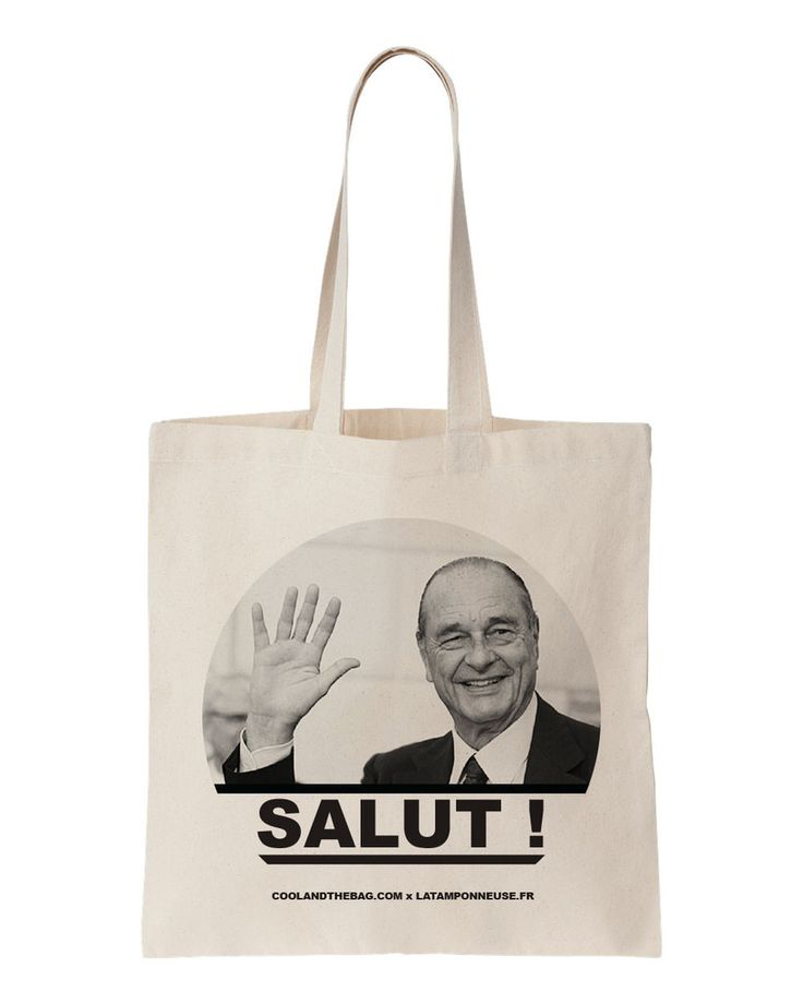 Tote bag Jacques Chirac 15€