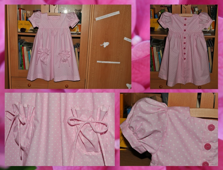 pink dress with white dots...must love!