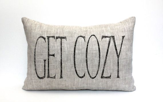 get cozy pillow throw pillow word pillow phrase by coverLove