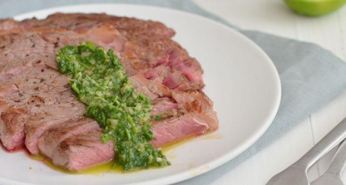 rib eye met groene salsa 3