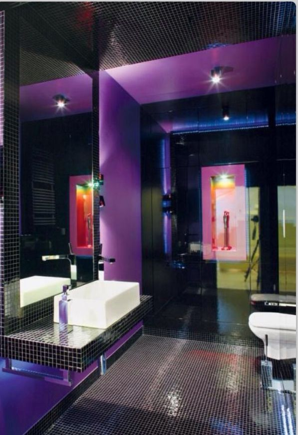 1000 Images About Bathroom Silver And Purple On Pinterest