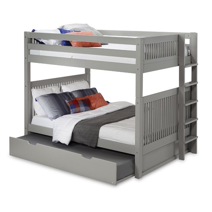 Rabon Full Over Full Bunk Bed With Trundle Bunk Bed With Trundle Bed With Drawers Twin Bunk Beds Full over full with trundle