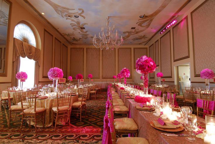 Free Wedding Planner Online Tips for Fuchsia and Coral Wedding Theme: Fuchsia Wedding Plan Ballroom