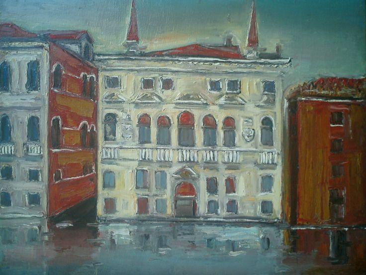 Ioan Cristea - Peisaj din Venetia u/p 50/40cm