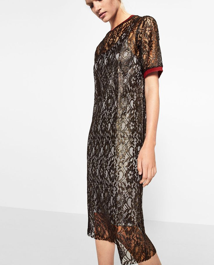 Image 2 of GOLDEN LACE DRESS from Zara