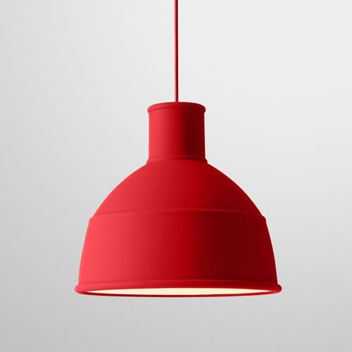 Unfold Pendant Light // Muuto // YLighting // Available in Red, Green + Light Gray // $179