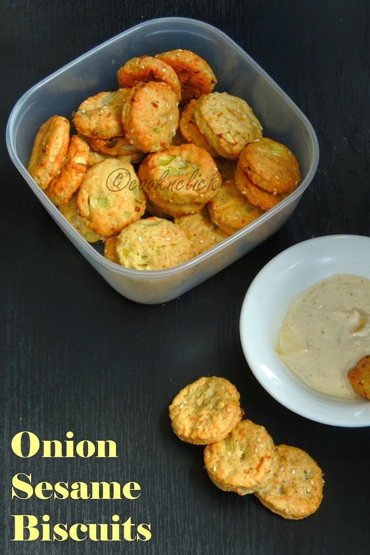 Onion & Sesame Savoury Biscuits | Cook N Click