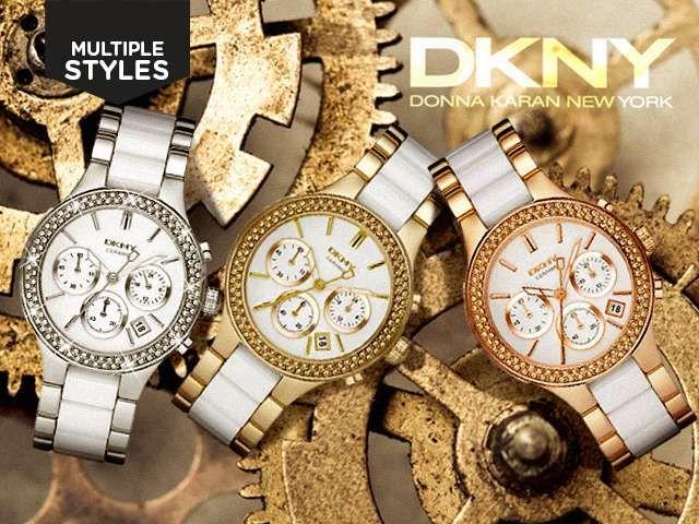 DKNY Women's Two-Tone Ceramic Watch