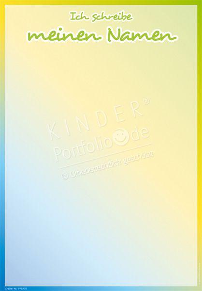 """Kindergarten Portfolio Vorlage """"Ich schreibe meinen Namen"""""""