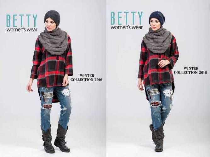 plaid flannel hijab outfit
