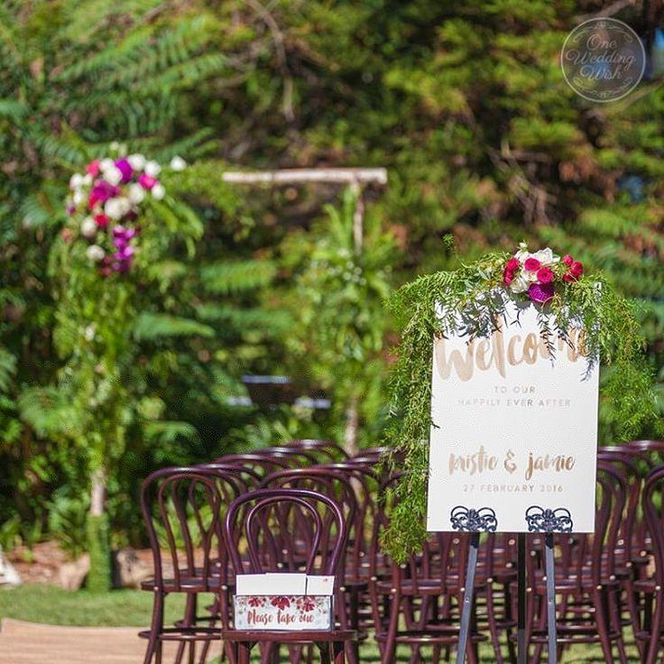 Ceremony at Bunya Bunya Lawn, Reception at The Refectory, Werribee Mansion   Styled by One Wedding Wish   www.oneweddingwish.com.au   www.instagram.com/oneweddingwish