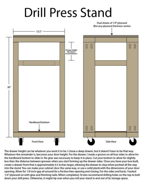 Diy Drill Press Stand Plans - WoodWorking Projects & Plans