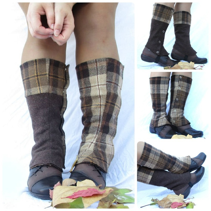 Sherlock Holmes spats long and reversible wool spat for woman and man costume. €25.00, via Etsy.