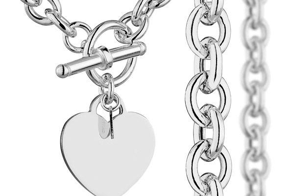 """Cool Argent 925 8 mm plat Sideway Hommes Chaînes Collier Bracelet Set 18-24/"""""""