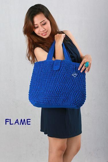 """Knitting Bag """"Flame"""""""