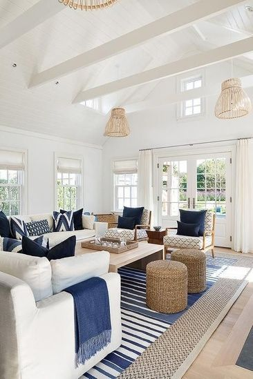 Best Calm Serene Blue White Coastal Living Room Blue 640 x 480