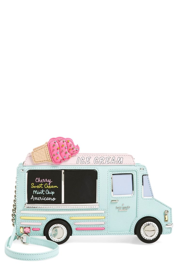 Stashing the essentials in this playful ice cream truck shoulder bag by kate spade that will certainly bring a summertime vibe to any ensemble