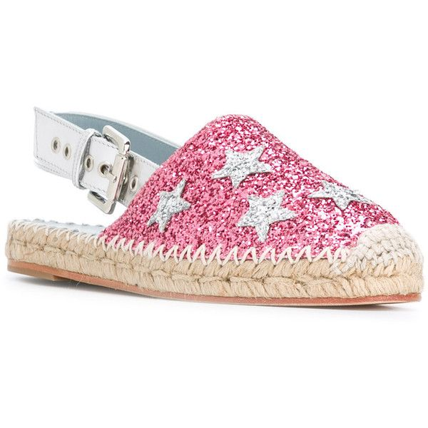 Chiara Ferragni high shine espadrilles (€150) ❤ liked on Polyvore featuring shoes, sandals, pink leather sandals, leather espadrilles, multi colored sandals, polish shoes and espadrille sandals