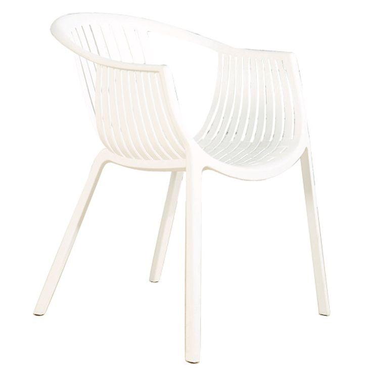 Colombo garden armchair white PP
