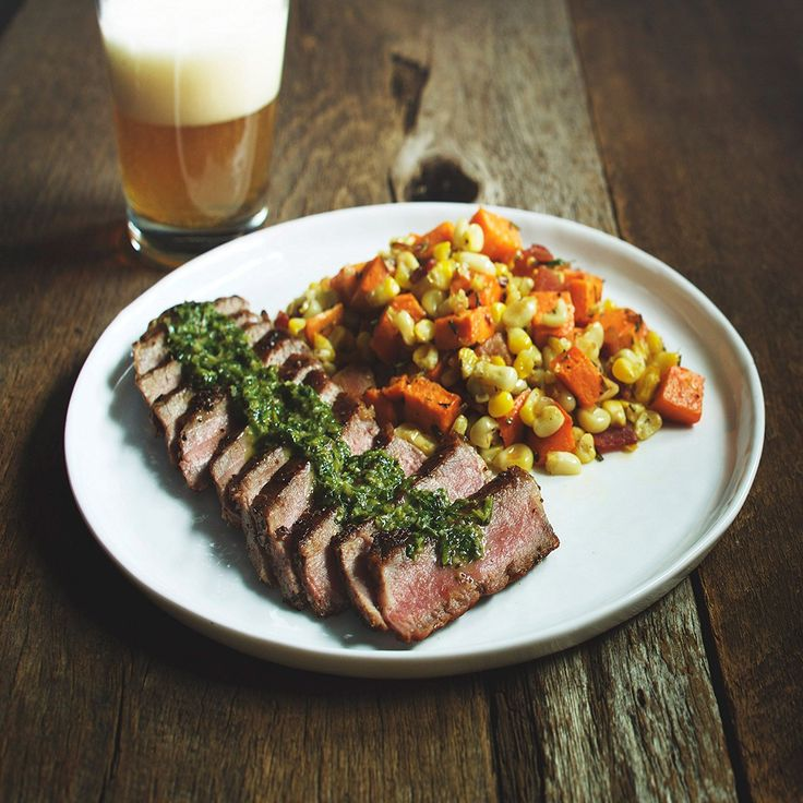 NY Steak with Sriracha Chimichurri and Sweet Potato Hash by Chef'd Partner Robert Irvine (Dinner for 4) >>> Want additional info? Click on the image.