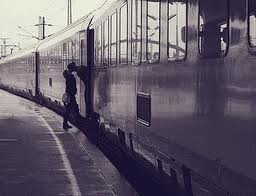 Reminds me of Julian and I. Our relationship began with so many goodbyes at the train station.