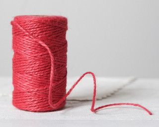 Vintage Twine, Bright Pink by Smile Mercantile - contemporary - accessories and decor - by Etsy