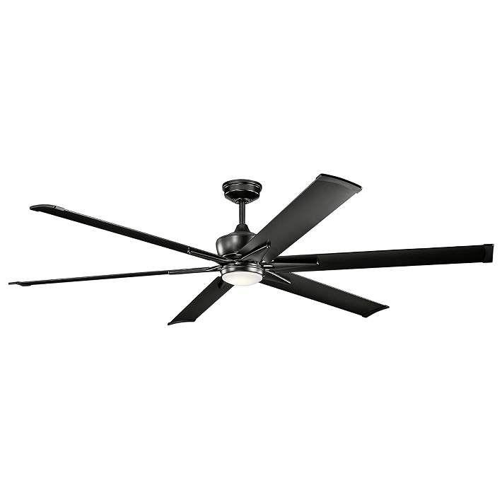 80 Kichler Szeplo Ii Satin Black Wet Led Ceiling Fan 16n89