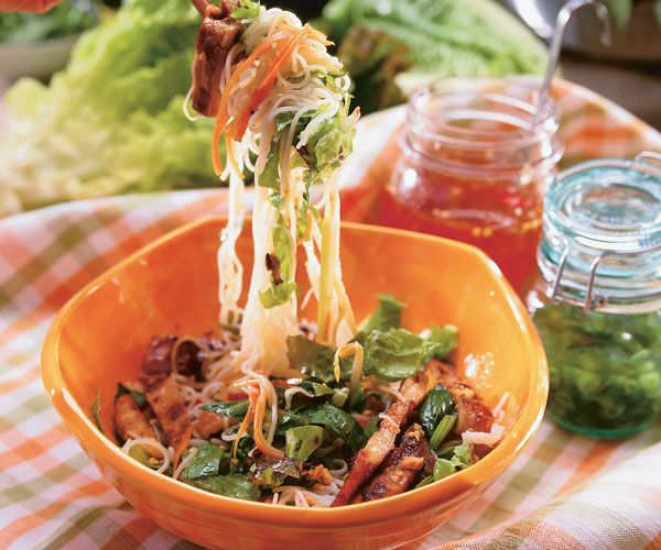 Vietnamese Noodle Salad With Grilled Pork Recipe By Mai Pham (Food Cooking)
