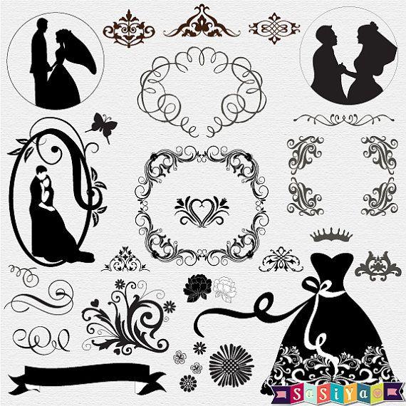 INSTANT DOWNLOAD Bride & Groom Wedding Floral by SasiyaDesigns, $5.00