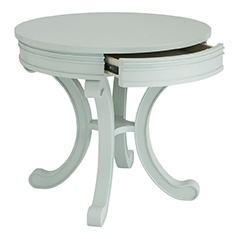 Round Accent Table in Watery finish, HGTV HOME Furniture