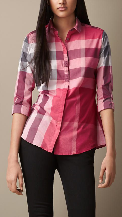 1000 images about burberry shirt women on pinterest for Burberry brit checked shirt