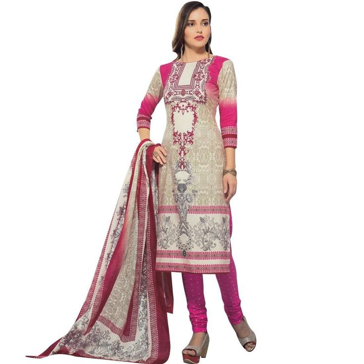 Ready To Wear Ethnic Printed Cotton Salwar Kameez Suit Indian Pakistani  #Designer #LowestPrice #NewStuff #ShopNow #FreeShipping #SalwarSuit #SalwarKameez #DressMaterial