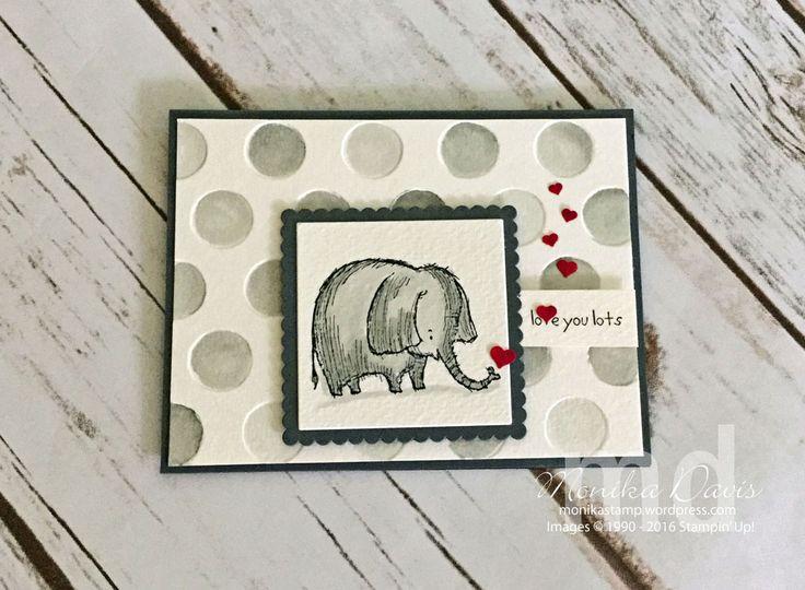 Love You Lots Stampin' Up! Hostess set.  Card by Monika Davis #stampingatmonikas