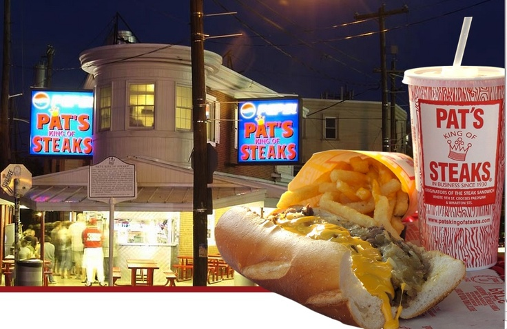 Pats King of Steaks!  Is it the best?  The only way to know is to go to all of them and decide afterwards.  But that's a whole lot of cheesesteak!