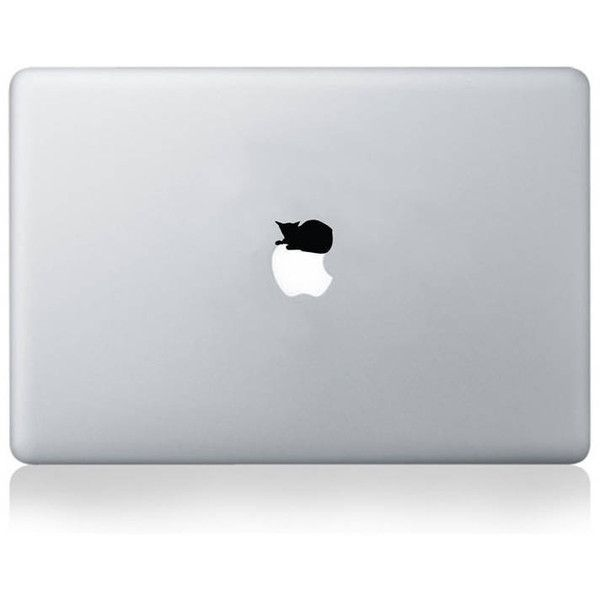 Vinyl Revolution Cat Napping On Apple Vinyl Decal For Macbook 13/15 (£6.50) ❤ liked on Polyvore featuring accessories, tech accessories and electronics