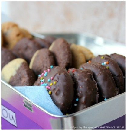 Chocolate-vanille cookies