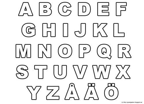 Pyssliga barn: Färglägga bokstäver och siffror