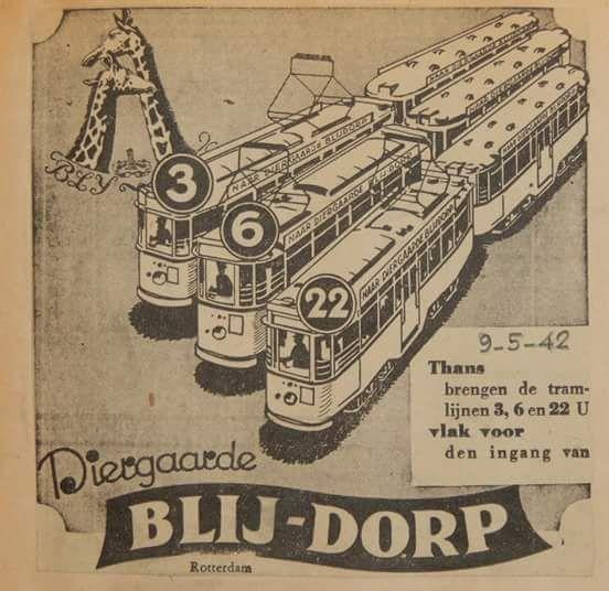 Met de Tram naar diergaarde Blijdorp 1942