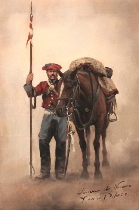 Lancero de Navarra - Autor: Ferrer-Dalmau