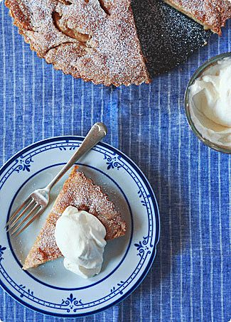 Buttery Apple Cake-Tart Recipe   SAVEUR. I'm just about to try this. It looks womderful