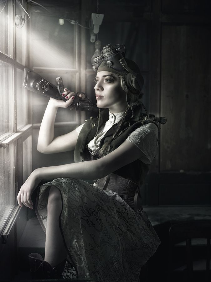 Steampunk/Gothic Ladies   Beauty   Fashion   Costume   Creativity   Steam girl by Rebeca  Saray
