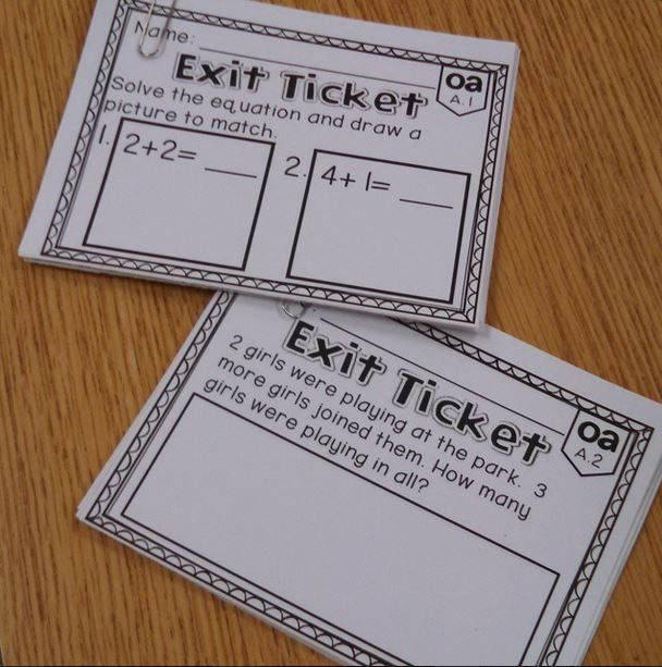 Use these Kindergarten Common Core Exit Tickets for a quick snapshot of students understanding of all Kindergarten Operations and Algebraic Thinking Standards