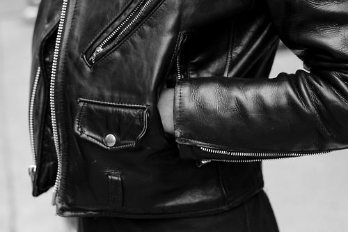 Leather jackets.
