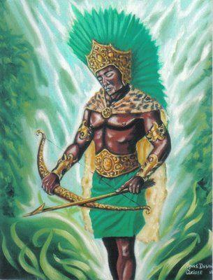 OXOSSI  Oxossi é o Orixá conhecido cOxossiomo senhor dos caboclos e das matas. É o caçador de almas de homens e dele emana altivez. Encoraja e dá segurança a todos seus seguidores; protetor dos animais, é conhecido por aliar sua grande força com o bom senso. Assim como Ogum, é um lutador, grande guerreiro, está sempre pronto para defender aqueles que se colocam sob sua guarda.