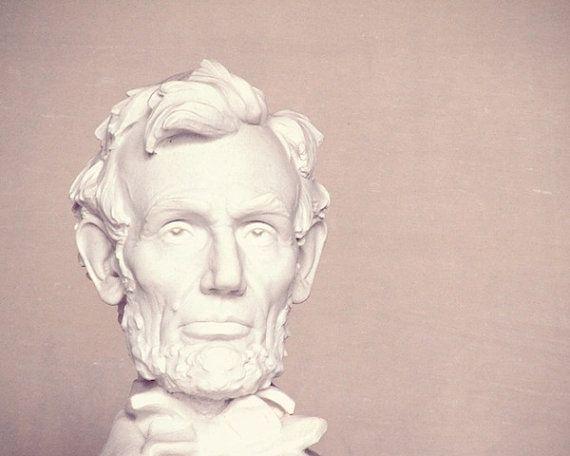 "Lincoln, president, Honest Abe, Abraham Lincoln, United States of America, whimsical, print, fine art photograph 8""x10"""