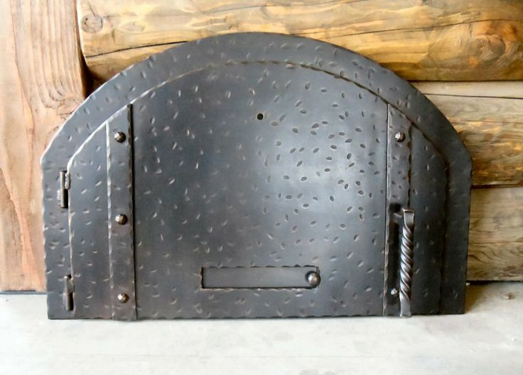 Antique looking Pizza Oven Door MD-204 with damper by Teton Iron
