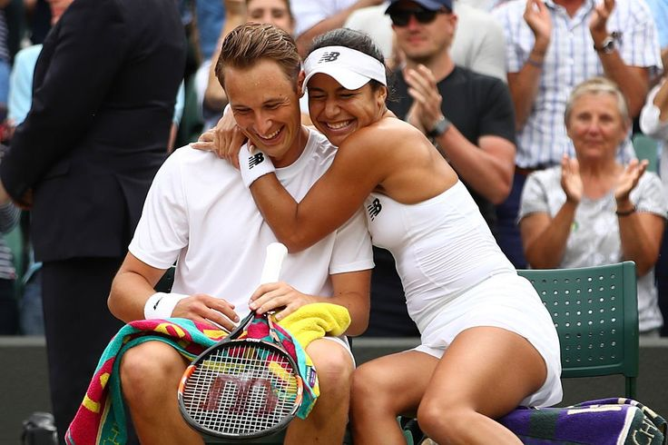 7/10/16 FIRST BRITISH WOMAN SINCE JO DURIE, WINS WIMBLEDON TITLE WITH MIXED DOUBLES CROWN! Heather Watson & Finnish partner Henri Kontinen win the mixed doubles with 7-6 6-4 win over Farah and Groenefeld.